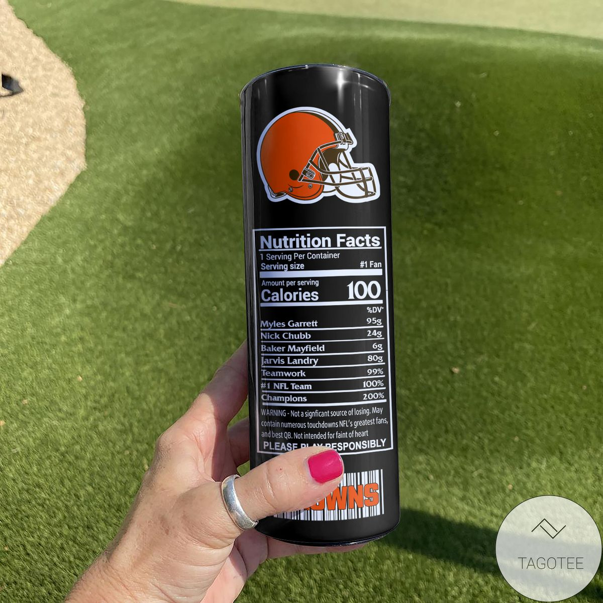 Beautiful Cleveland Browns Monster Energy Skinny Tumbler