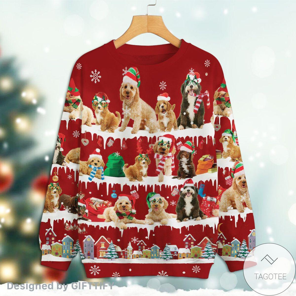 Real Cockapoo Snow Christmas Premium Sweatshirt