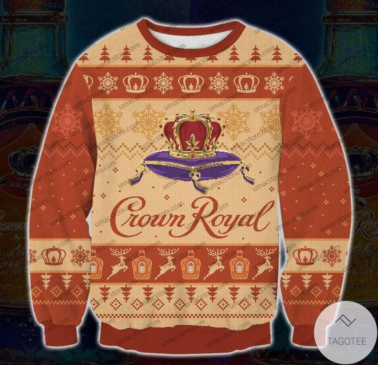 Crown Royal Peach Ugly Christmas Sweater