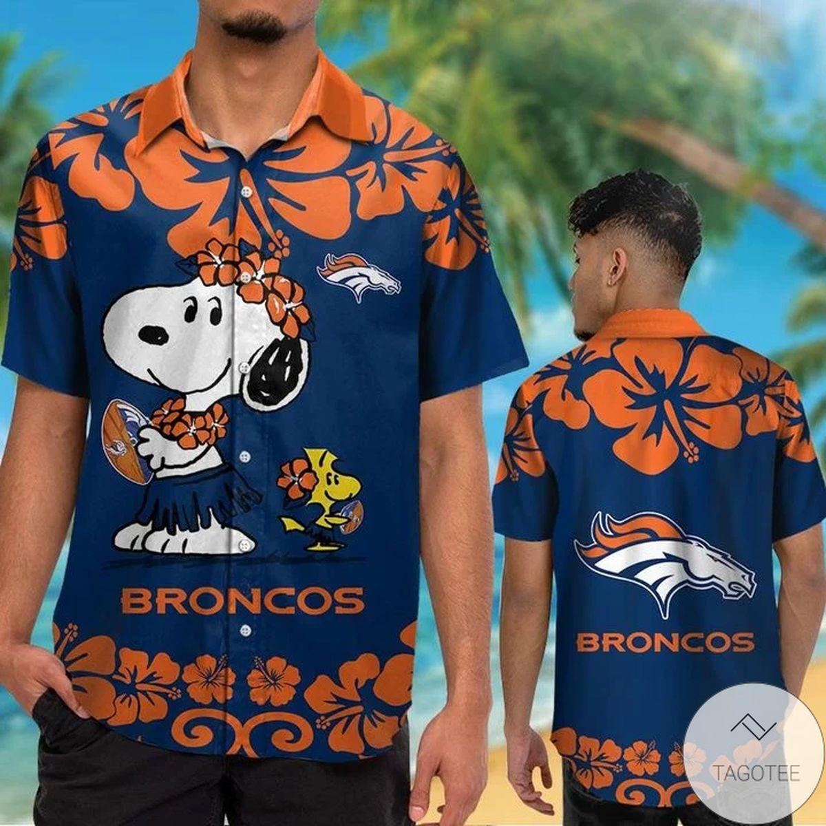 Denver Broncos & Snoopy Hawaiian Shirt
