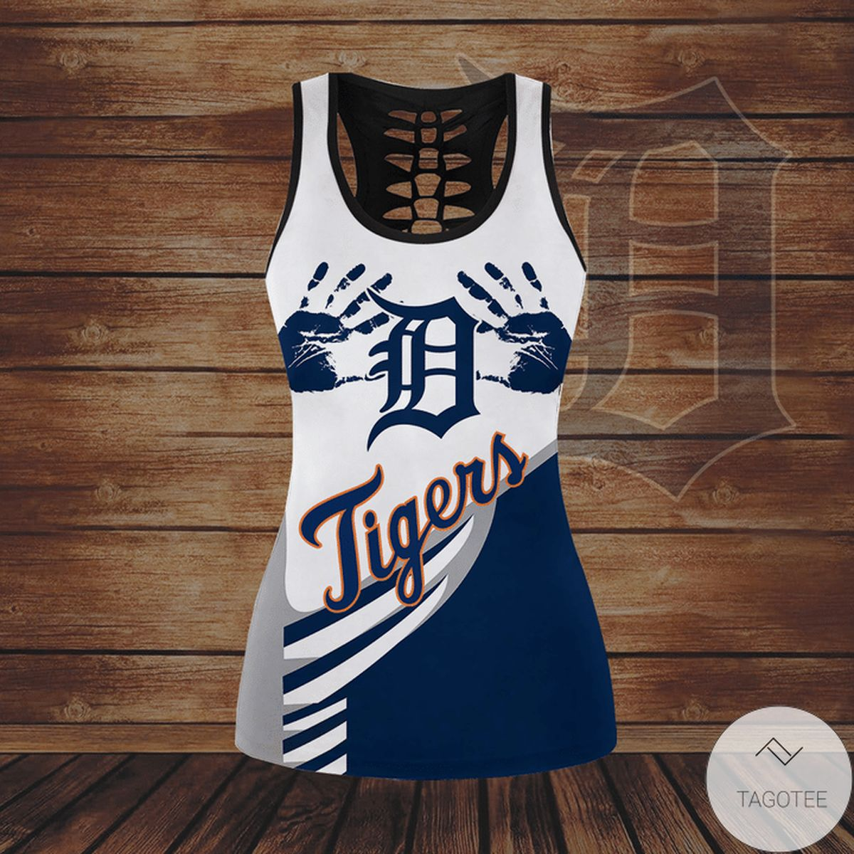 Mother's Day Gift Detroit Tigers Hallow Tank Top And Leggings