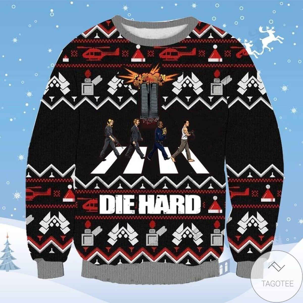 Print On Demand Die Hard Ugly Christmas Sweater