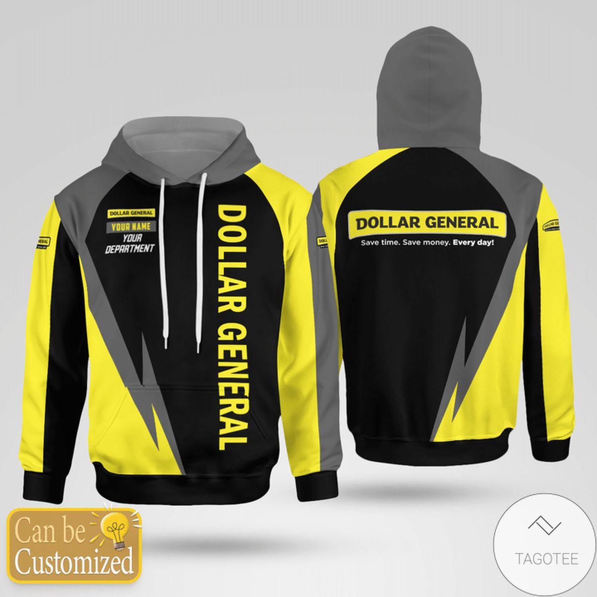Dollar General Save Time. Save Money. Every Day 3d Hoodie