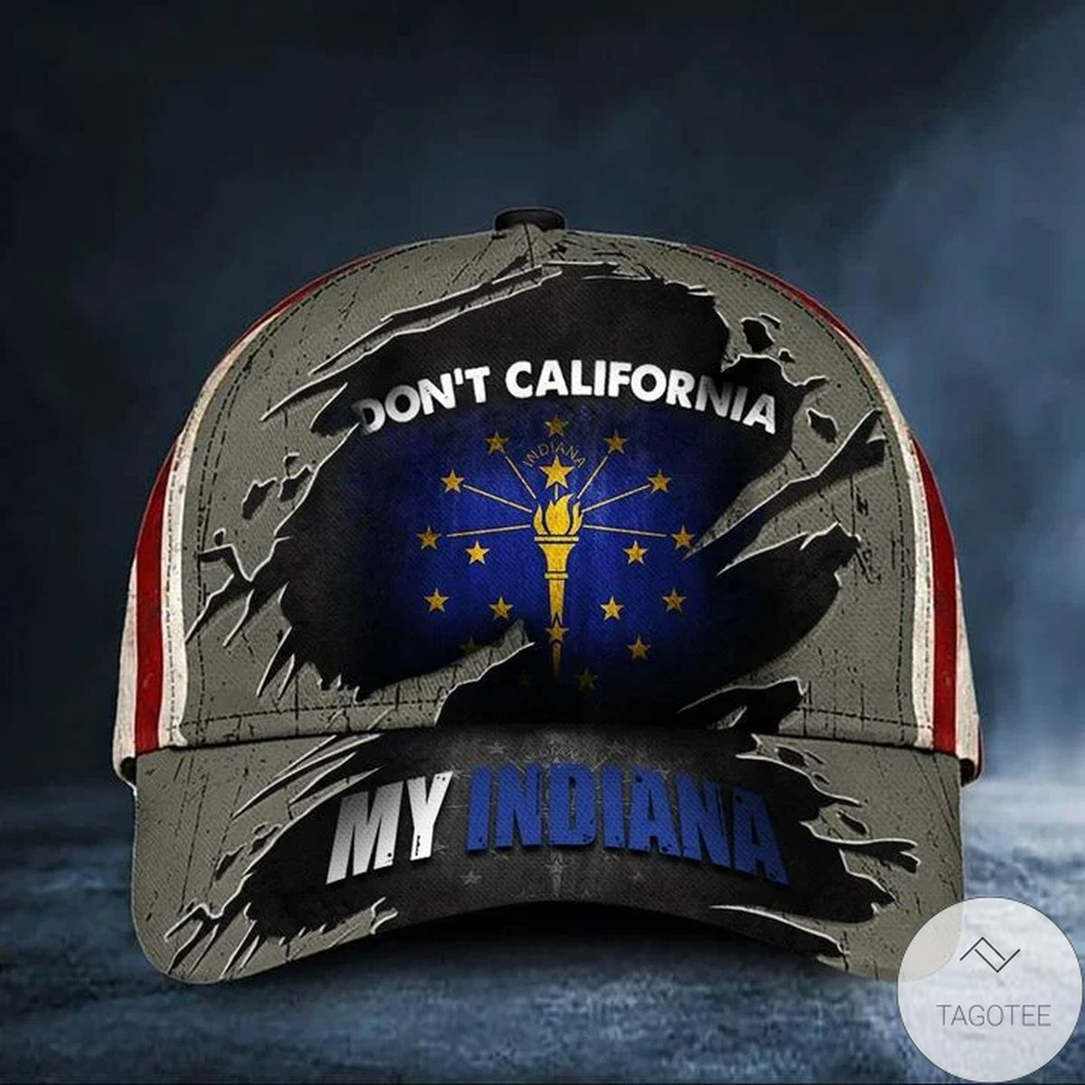Official Don't California My Indiana Cap Vintage American Flag Hat Patriotic Indiana Men Bro Gift