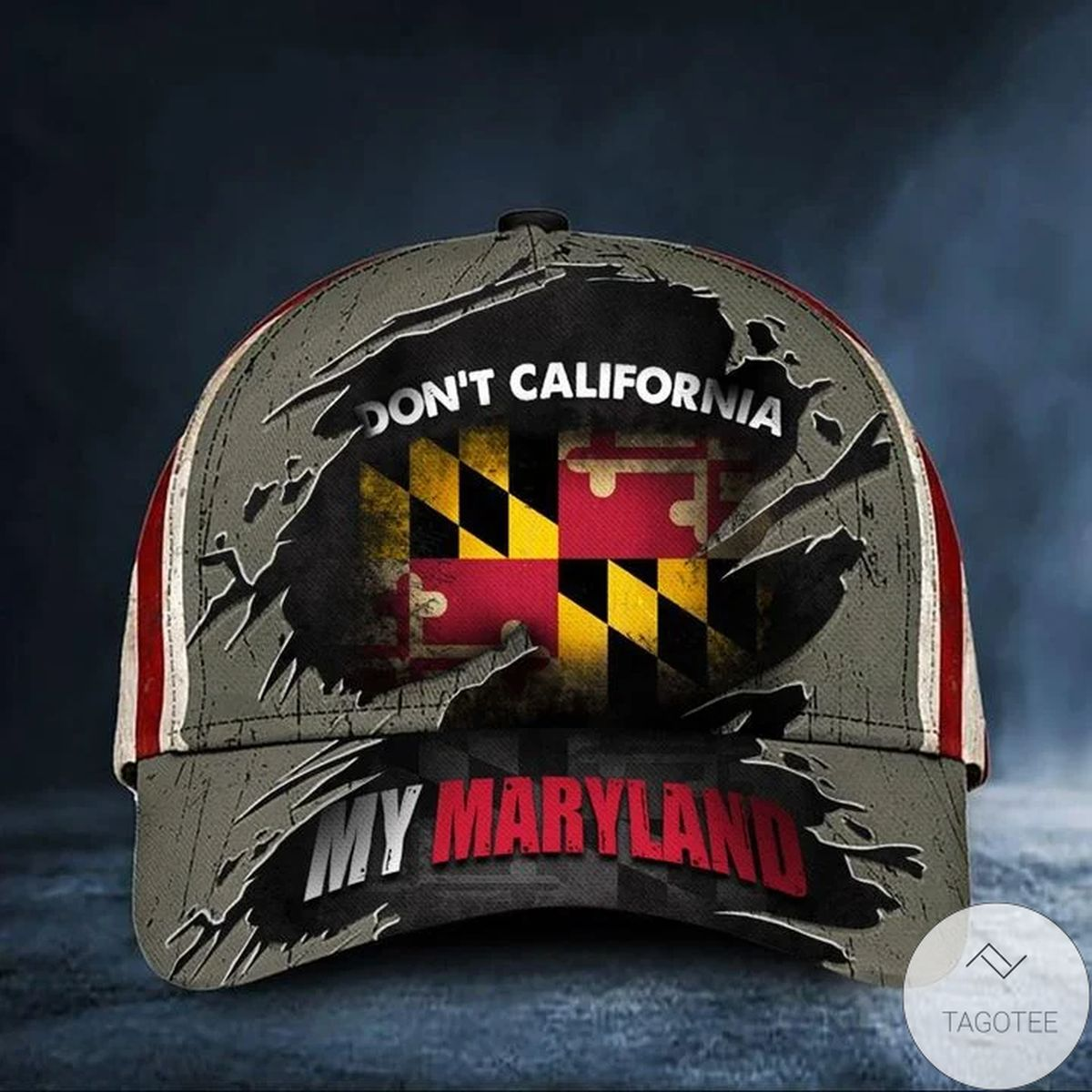 Don't California My Maryland Cap Vintage USA Flag Hat Mens Patriotic Maryland Merch