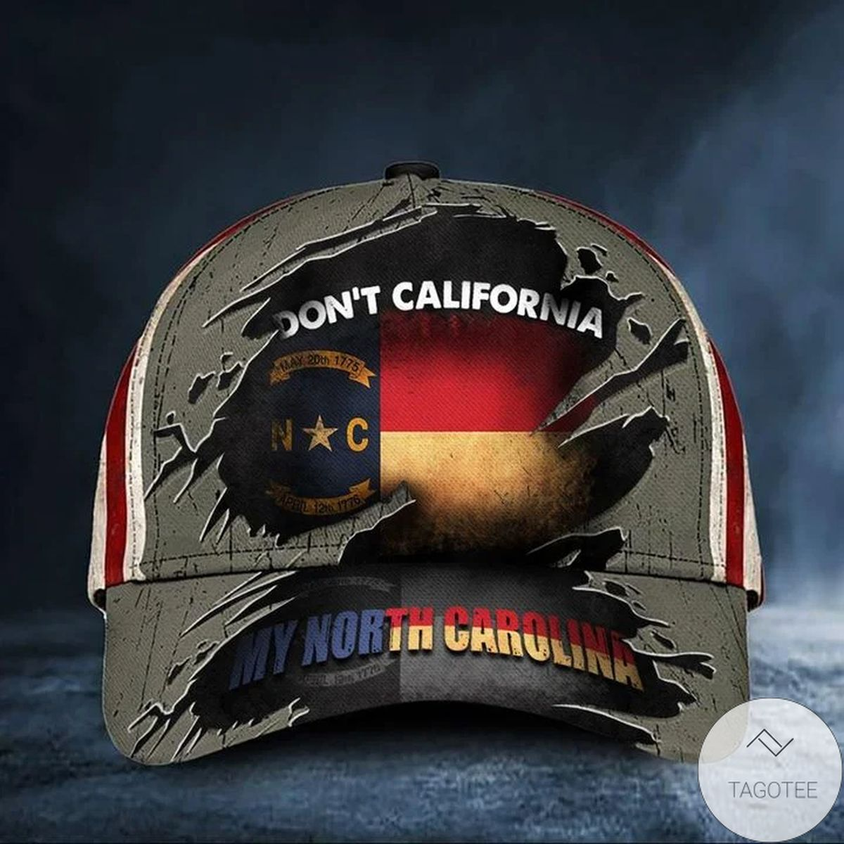 Don't California My North Carolina Hat Vintage USA Flag Cap Good Gifts For Father In Law