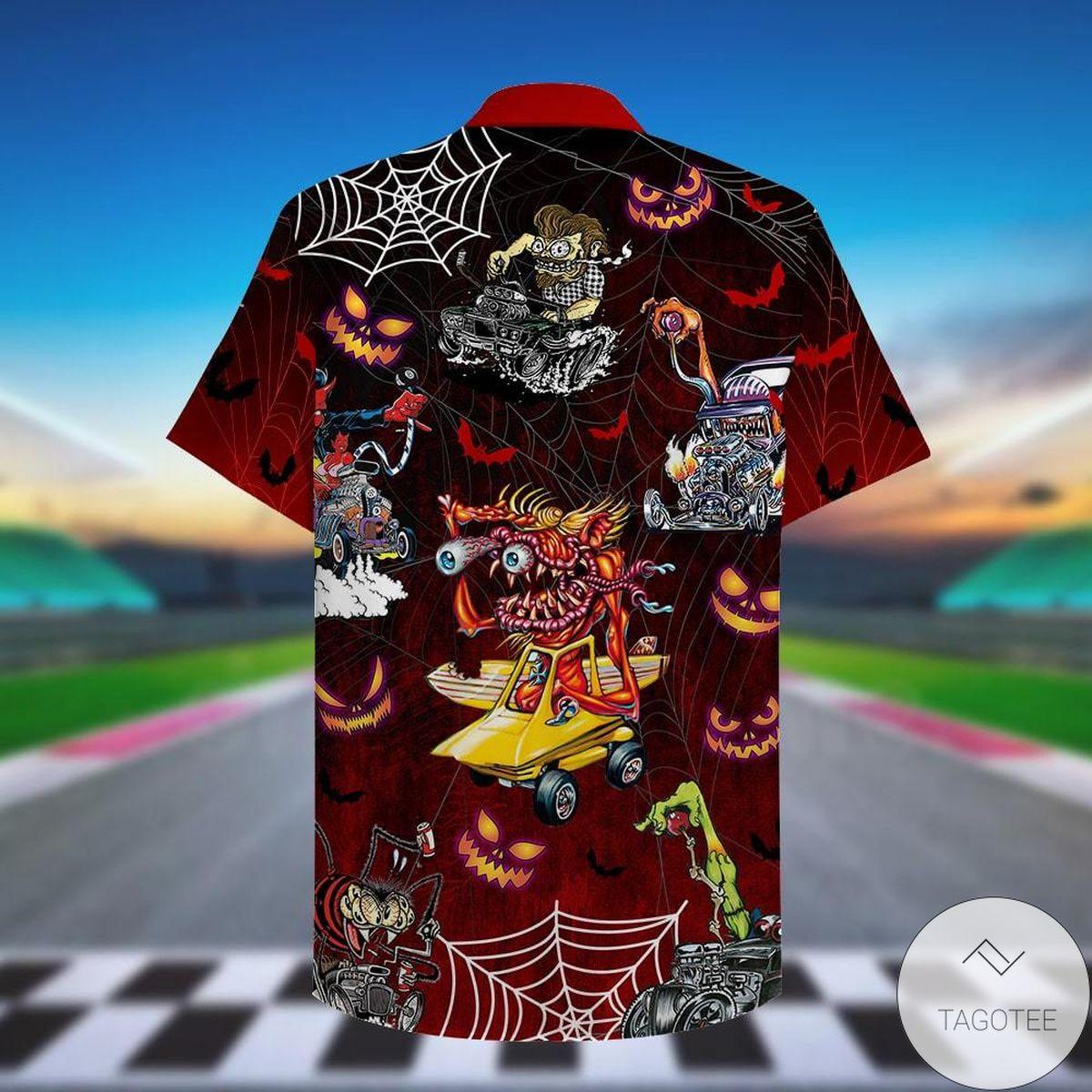 Present Drag Racing Halloween Everything Will Kill You So Choose Something Fun Hawaiian Shirt