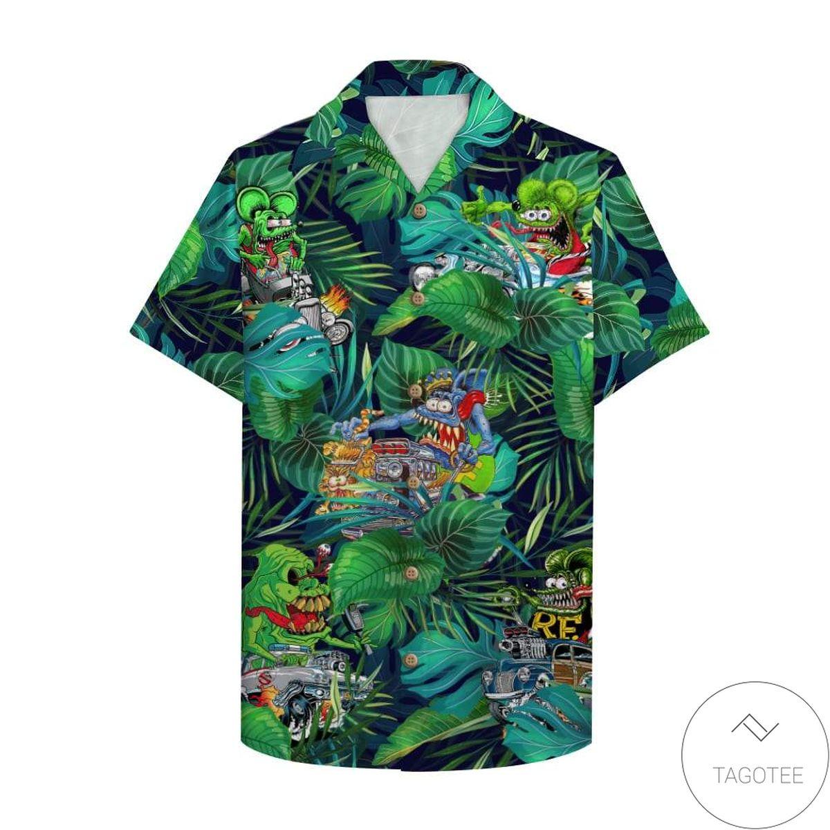 Drag Racing Hawaiian Shirt
