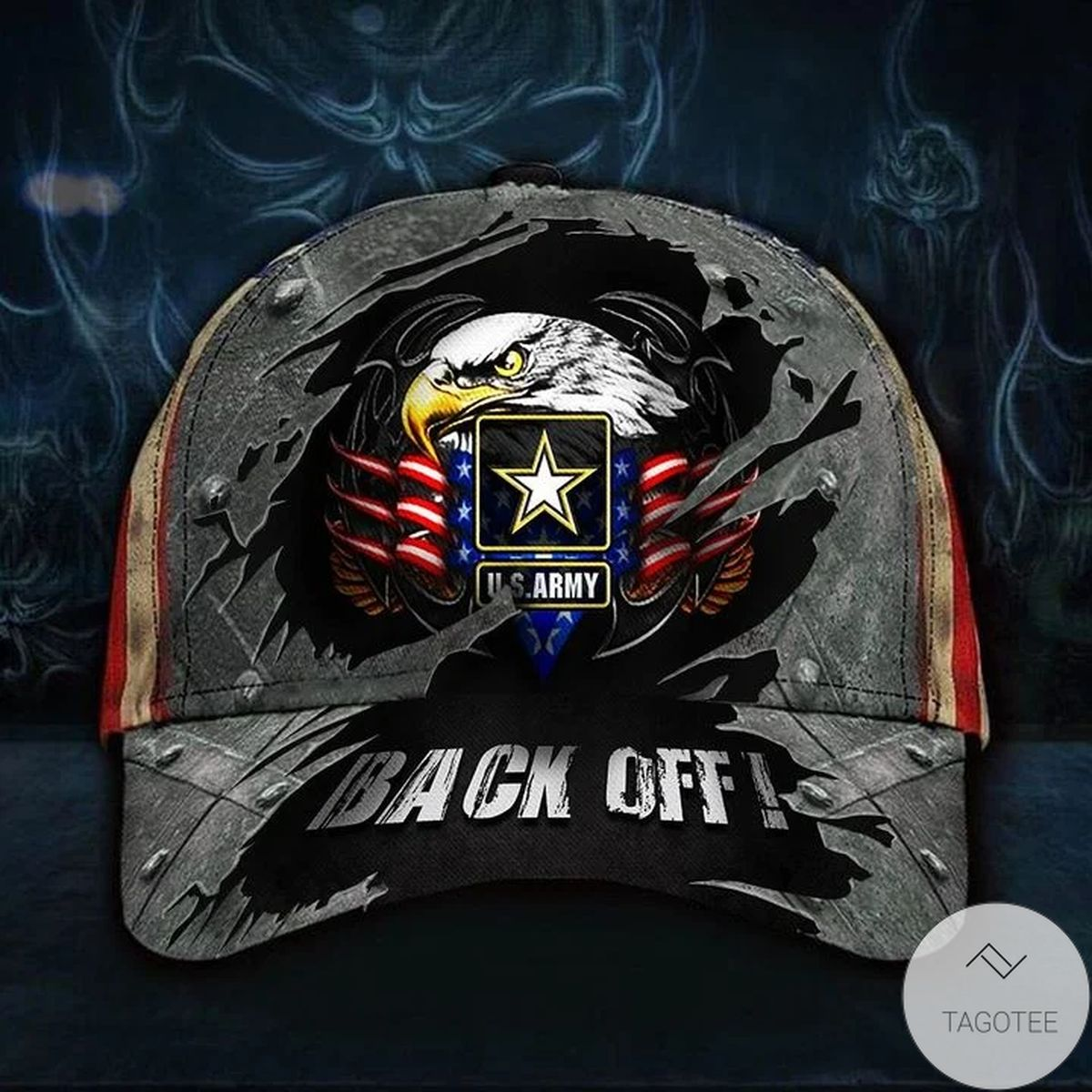 Unique Eagle US Army Back Off Hat Vintage USA Flag Patriotic Hat Honor Logo Army Gift