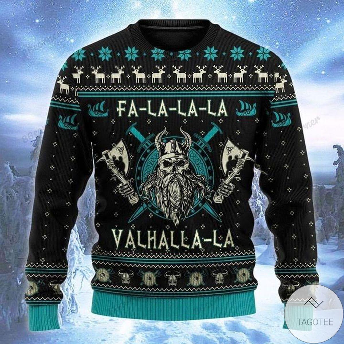 Amazing Fa La La La Valhalla La Ugly Christmas Sweater