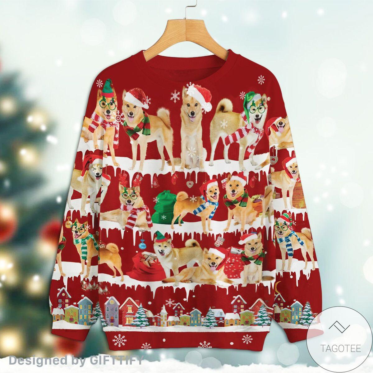 Official Finnish Spitz Snow Christmas Premium Sweatshirt