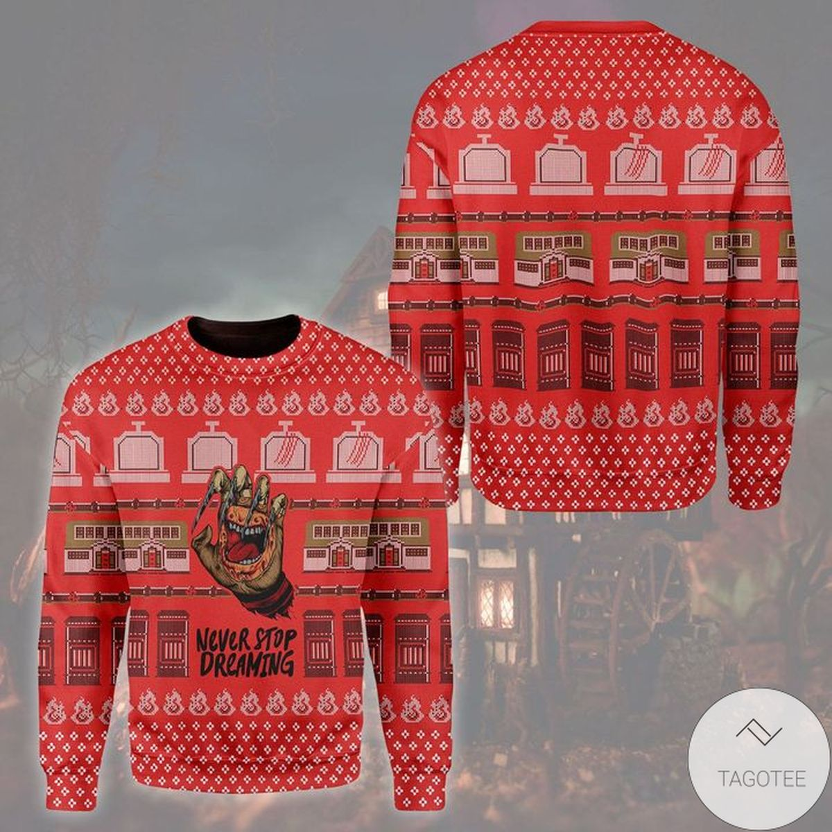 Freddy Krueger Never Stop Dreaming Ugly Christmas Sweater
