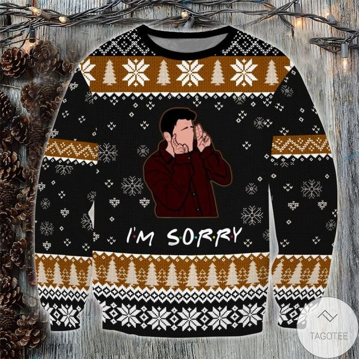 Friends I'm Sorry Ugly Christmas Sweater