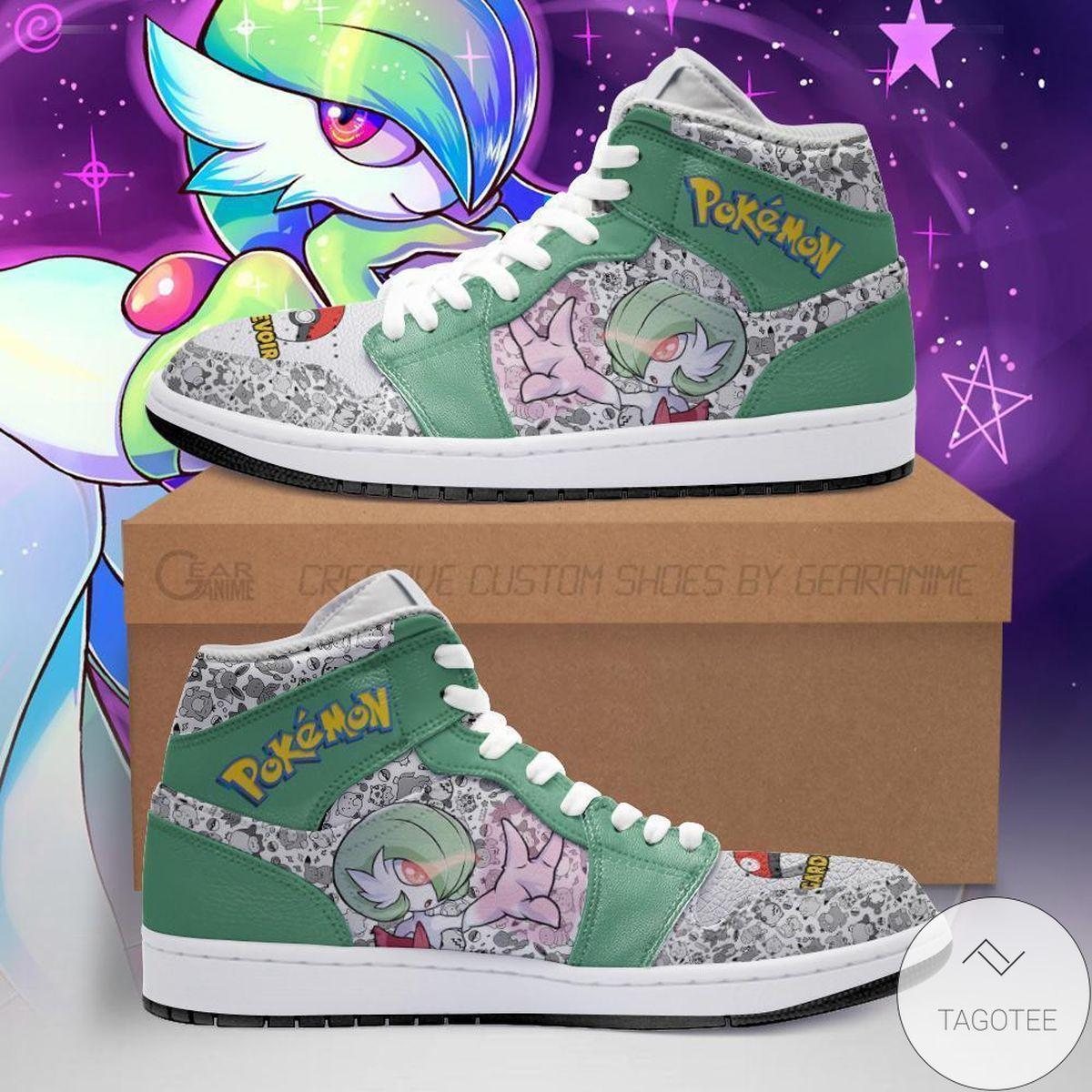 Gardevoir Pokemon Air Jordan High Top Shoes
