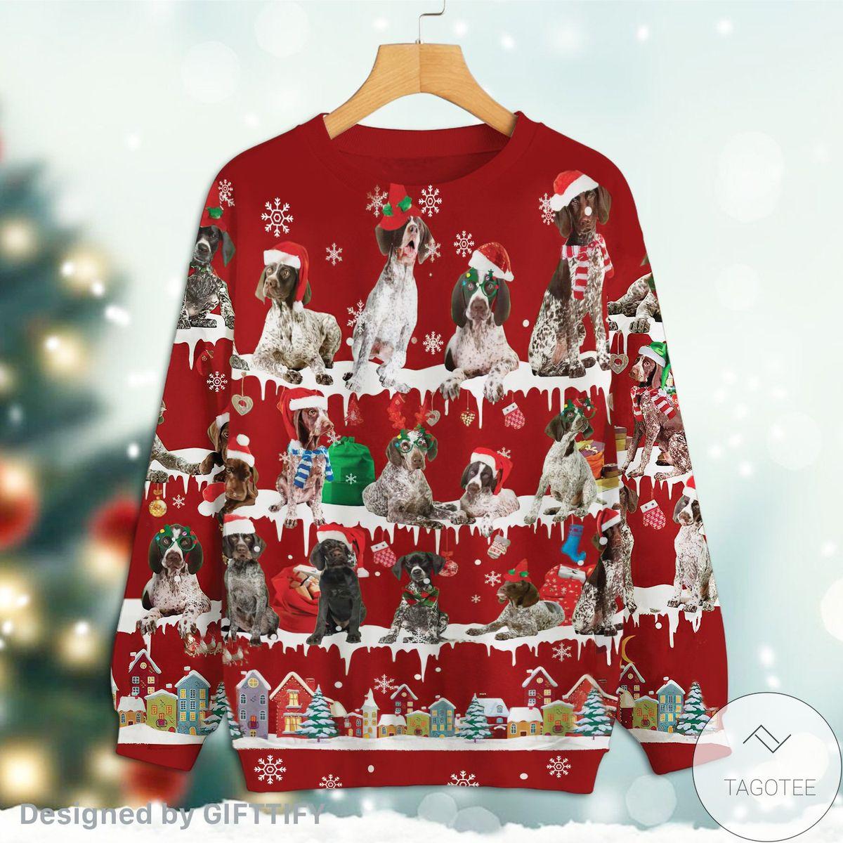 German Shorthaired Pointer Snow Christmas Premium Sweatshirt