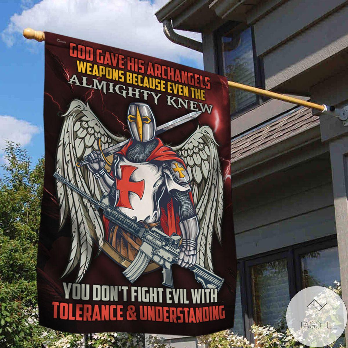 POD God Gave His Archangels Knight Templar Flag