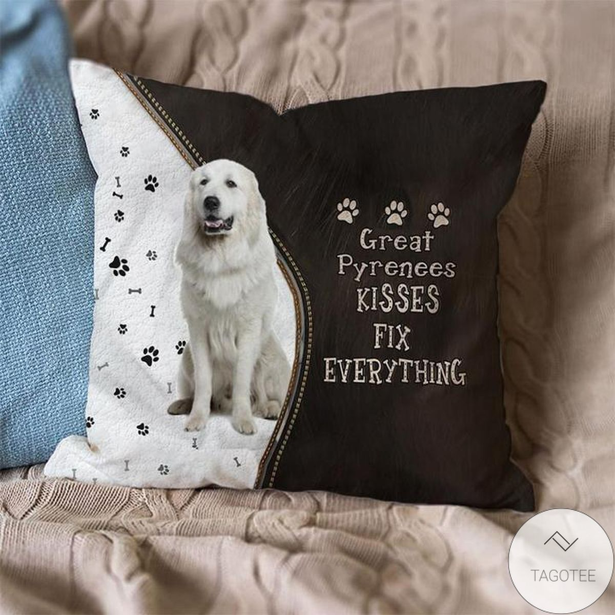 Drop Shipping Great Pyrenees Kisses Fix Everything Pillowcase