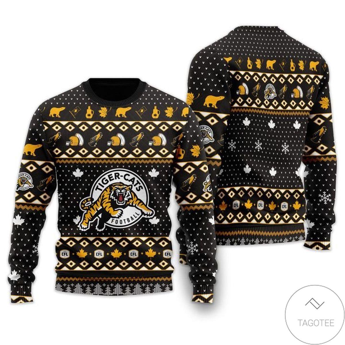Hamilton Tiger-cats Ugly Christmas Sweater