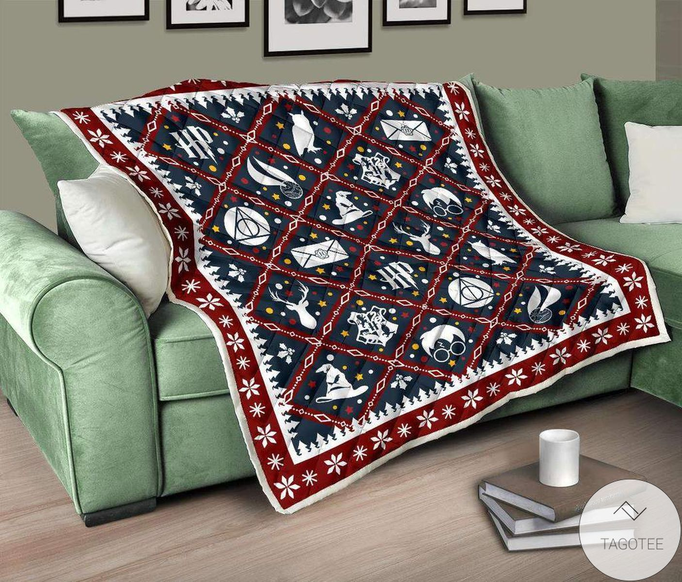 Beautiful Harry Potter Christmas Quilt Blanket
