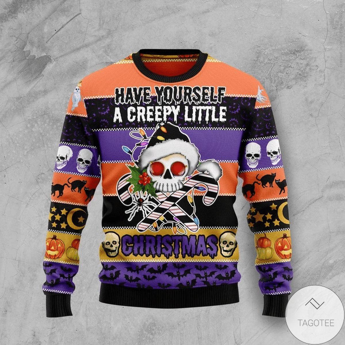 Have Yourself A Creepy Little Christmas Skull Creepy Ugly Christmas Sweater