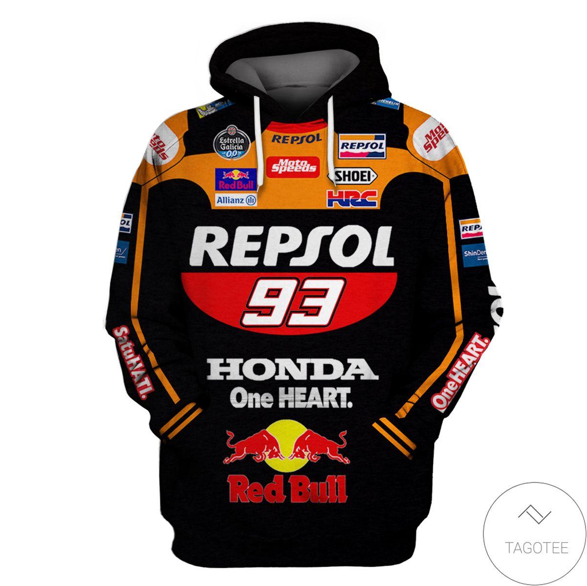 Honda Motogp Repsol Honda Branded Unisex 3d Hoodie