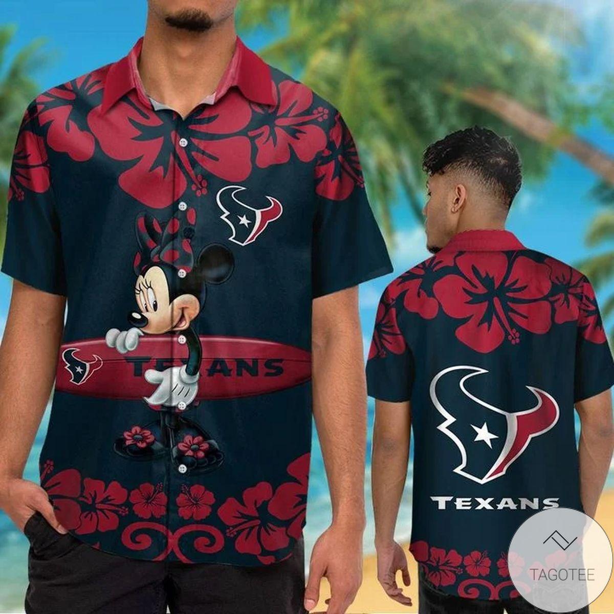 Houston Texans & Minnie Mouse Hawaiian Shirt