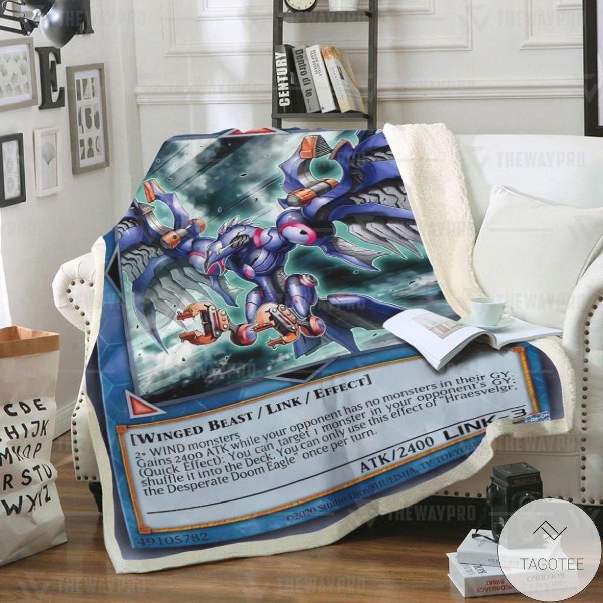 Hraesvelgr The Desperate Doom Eagle Custom Blanket