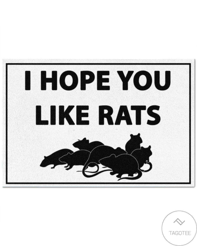 Present I Hope You Like Rats Doormat