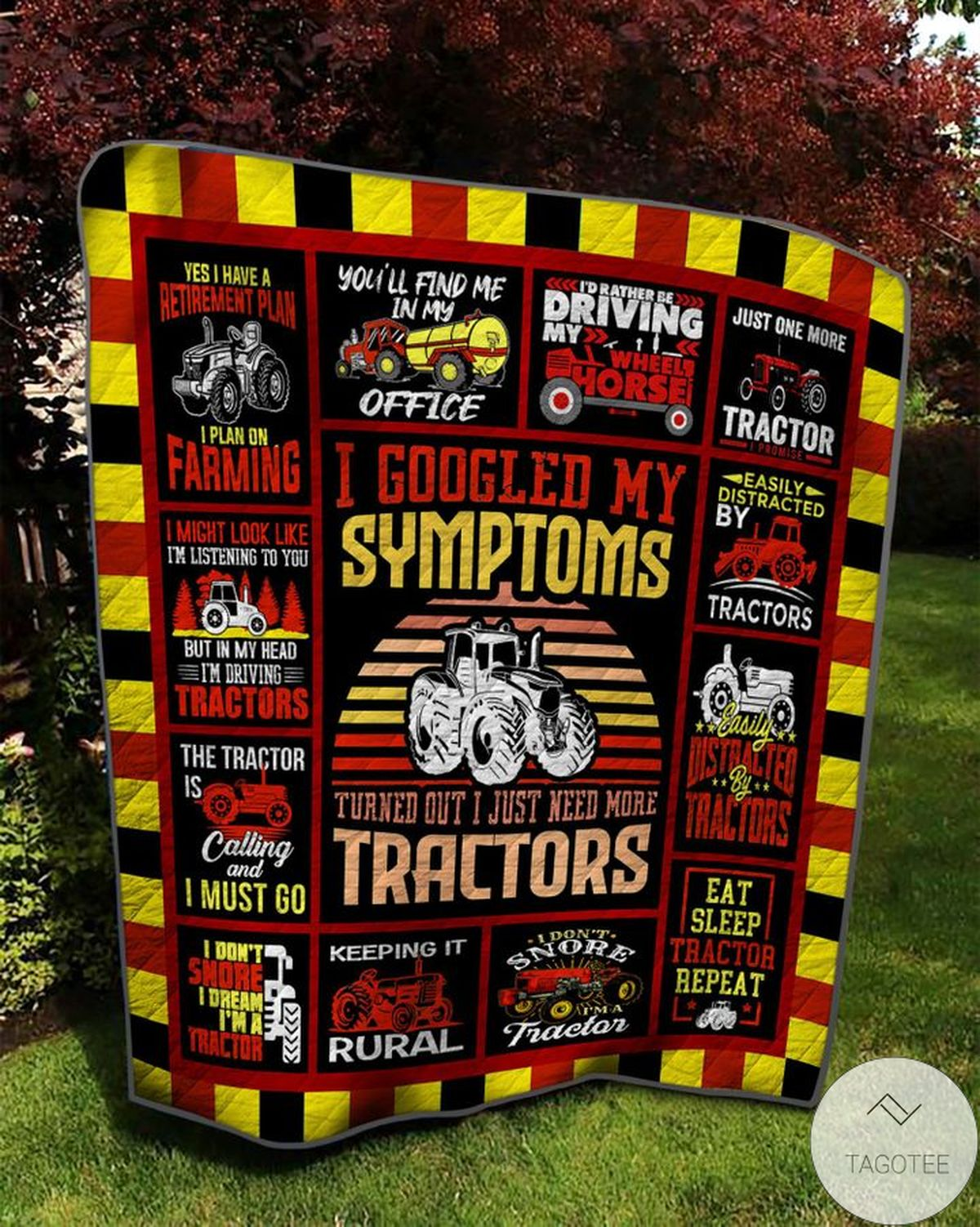 Popular I Just Need More Tractor Blanket Quilt