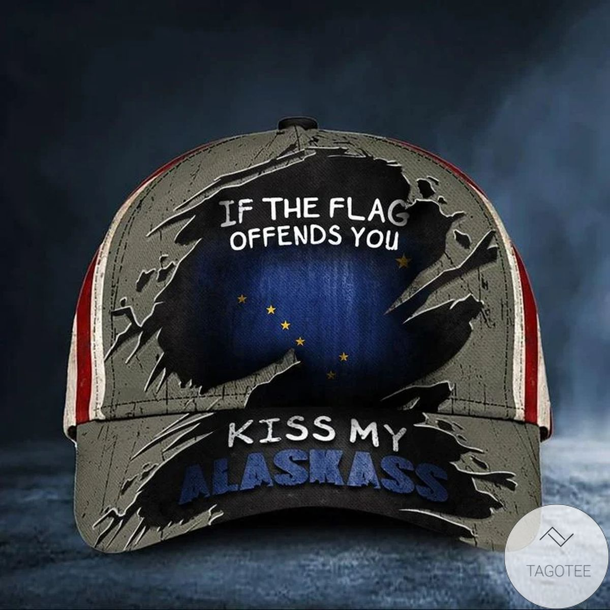 Buy In US If The Flag Offends You Kiss My Alaskass Cap USA Flag Vintage Hat Funny Patriot Alaska Merch