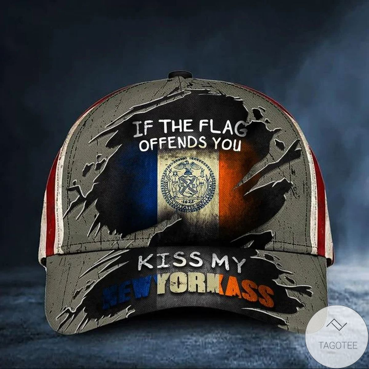 If The Flag Offends You Kiss My New Yorkass Cap USA Flag Hat Honor New York NYC Merch