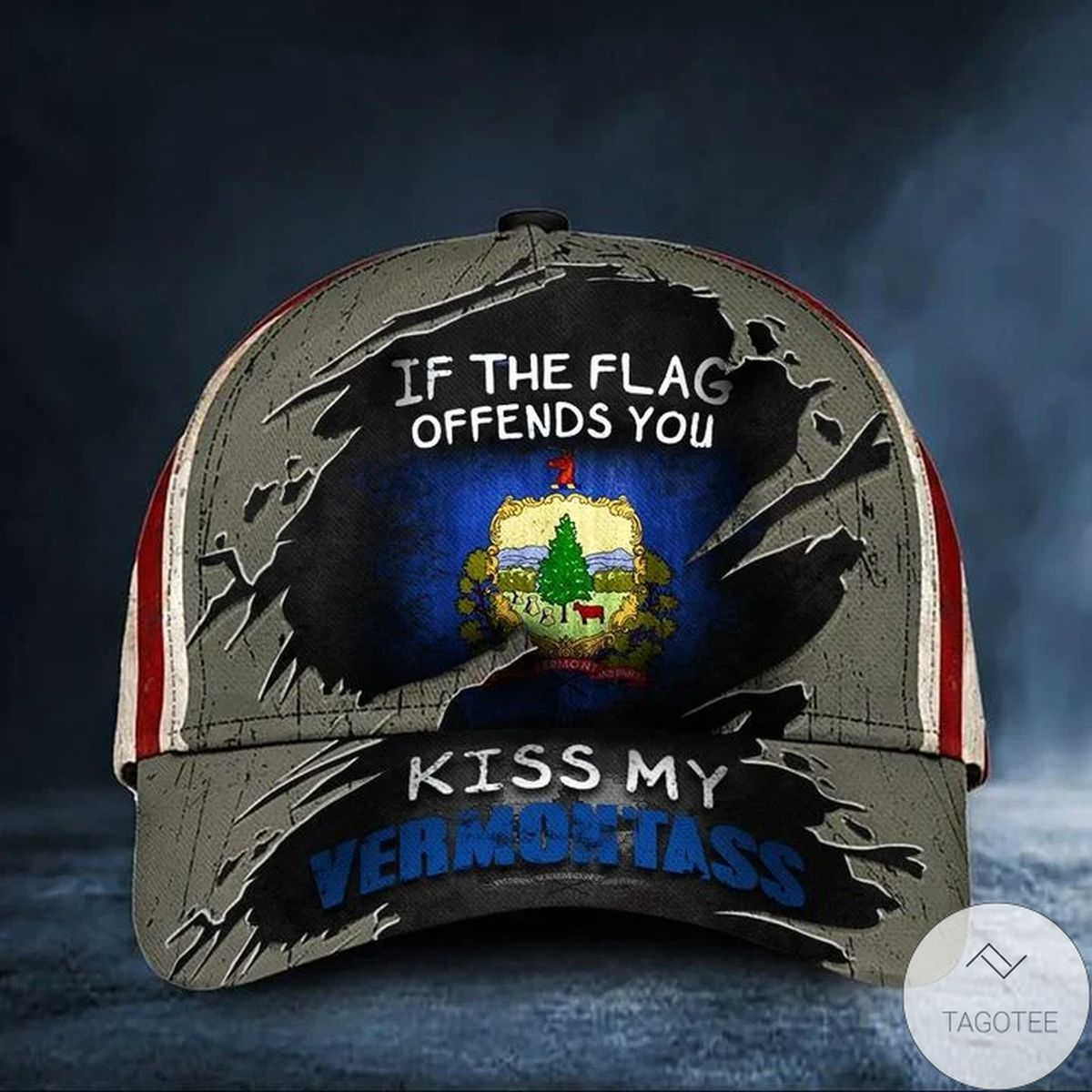 If The Flag Offends You Kiss My Vermontass Cap American Flag Unique Hat Vermont Products