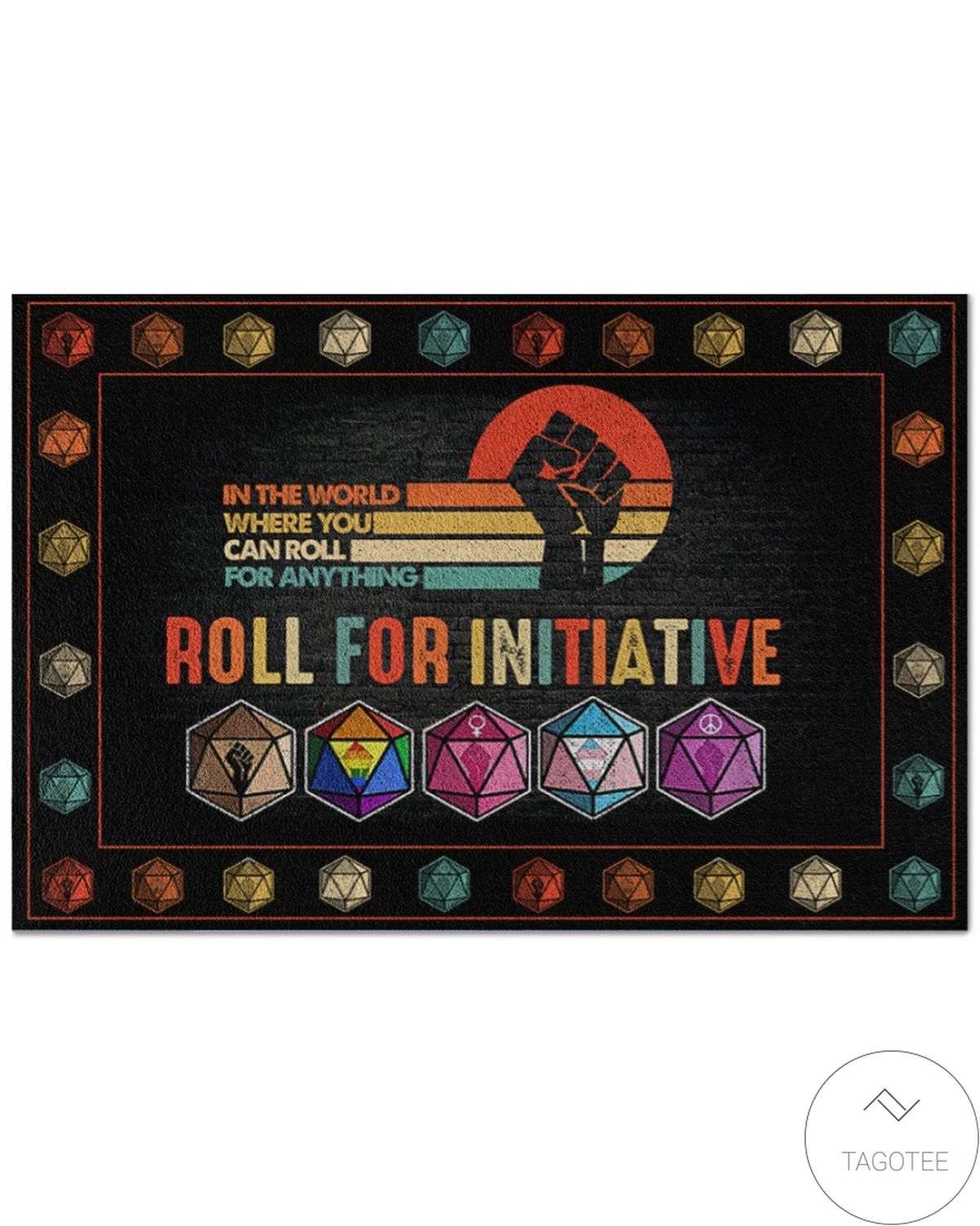 In The World Where You Can Roll For Anything Roll For Initiative Doormat