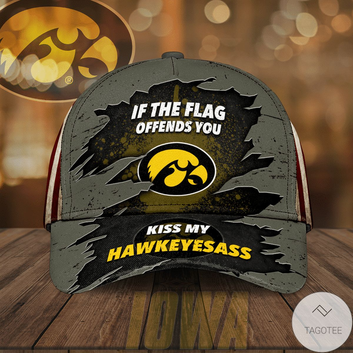 Best Iowa Hawkeye If The Flag Offends You Cap