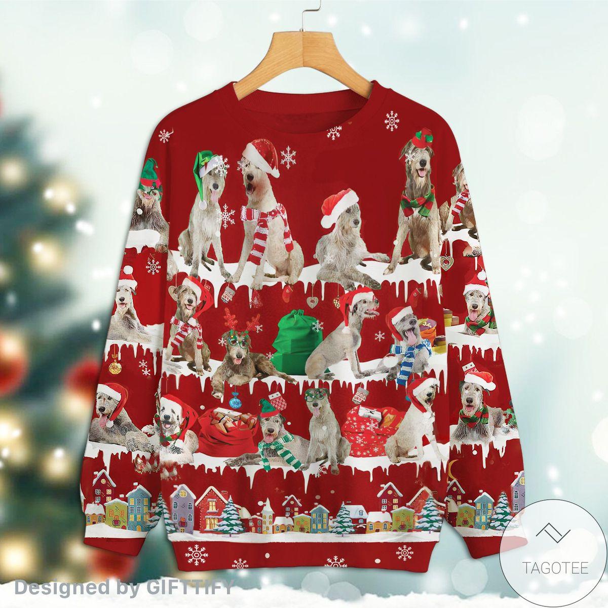 Irish Wolfhound Snow Christmas Premium Sweatshirt