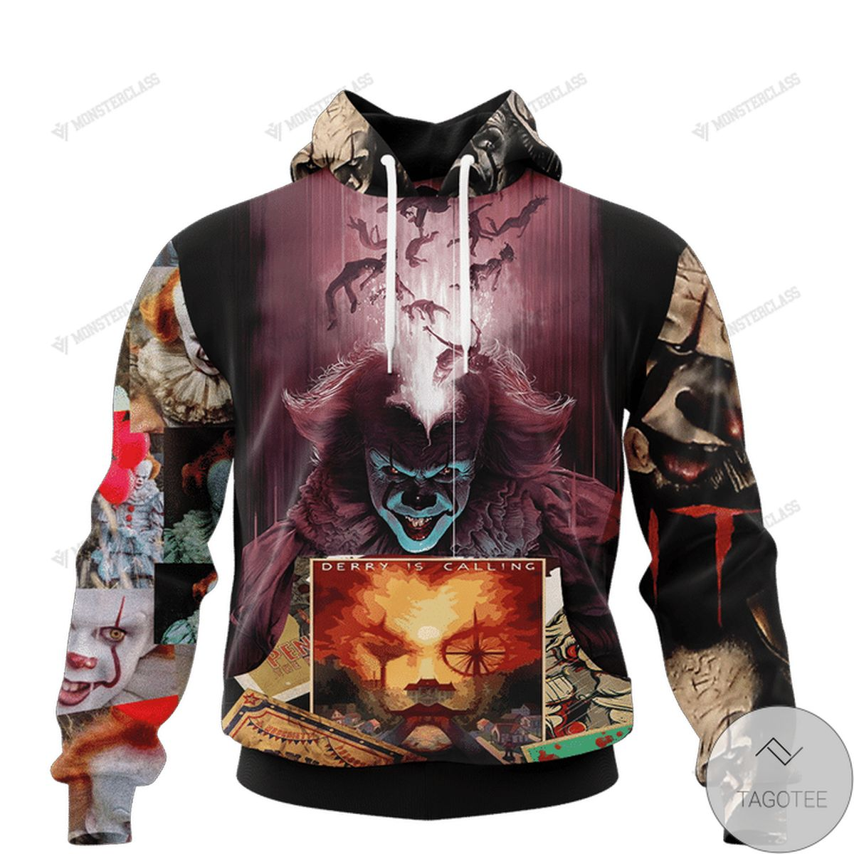 Ships From USA It Pennywise Halloween Horror 3d Hoodie