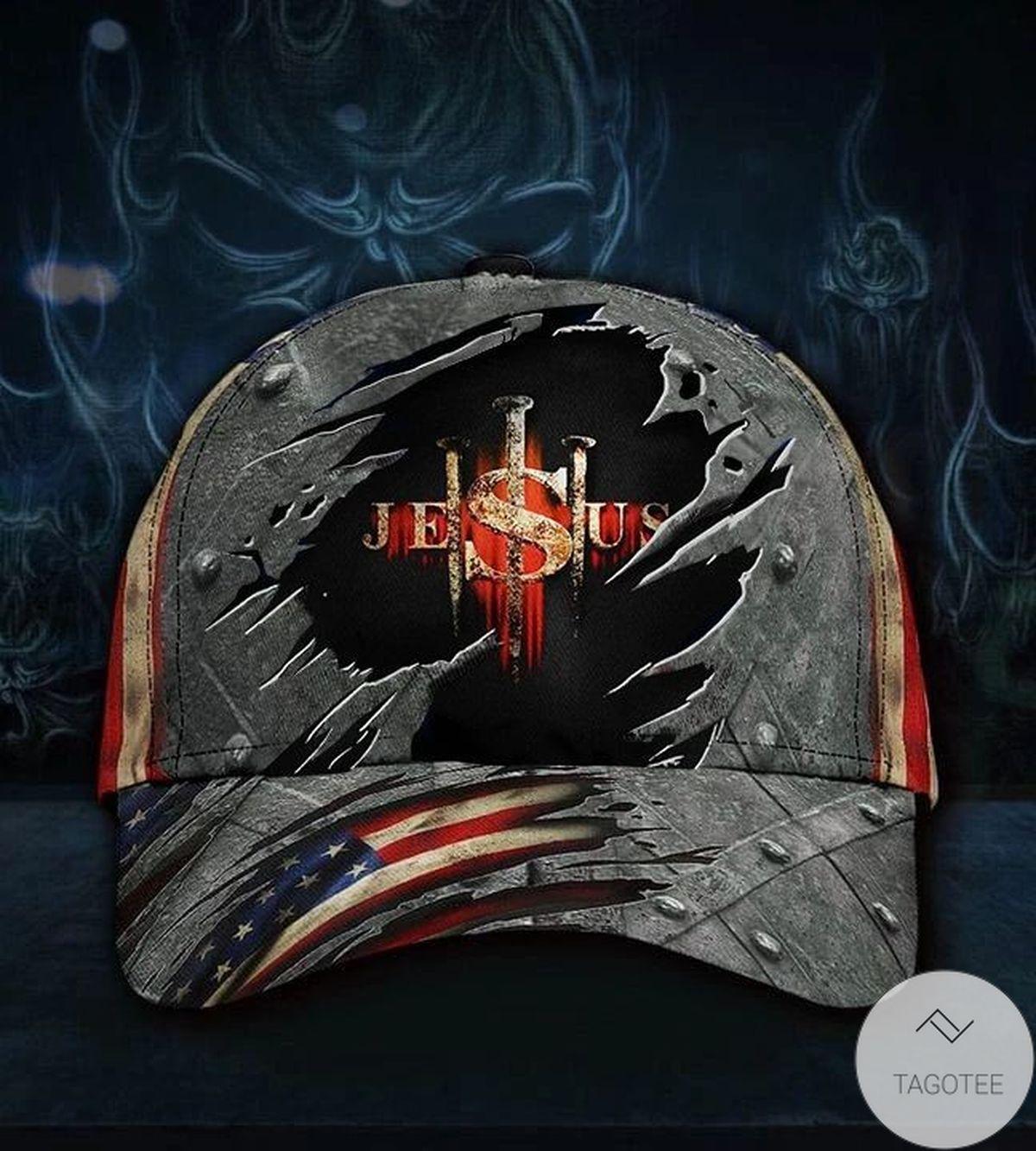 Jesus Hat 3D Printed American Flag Vintage Cap Men Patriotic Christian Gift For Him