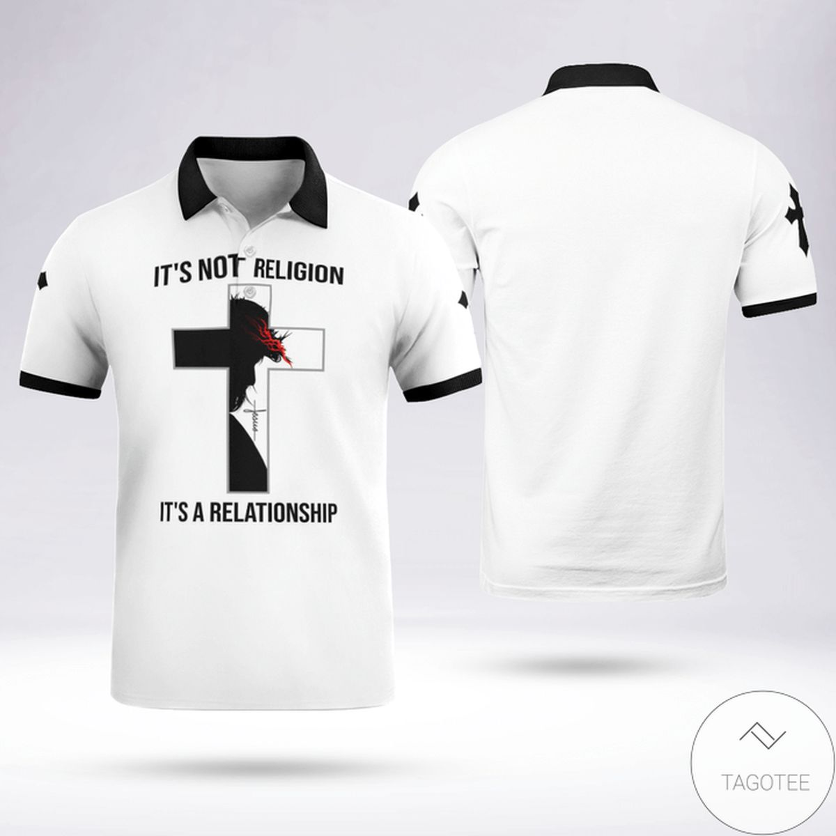 Jesus It's Not Religion It's Relationship Polo Shirt