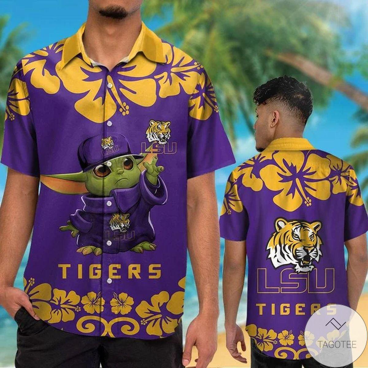 LSU Tigers Baby Yoda Hawaiian Shirt