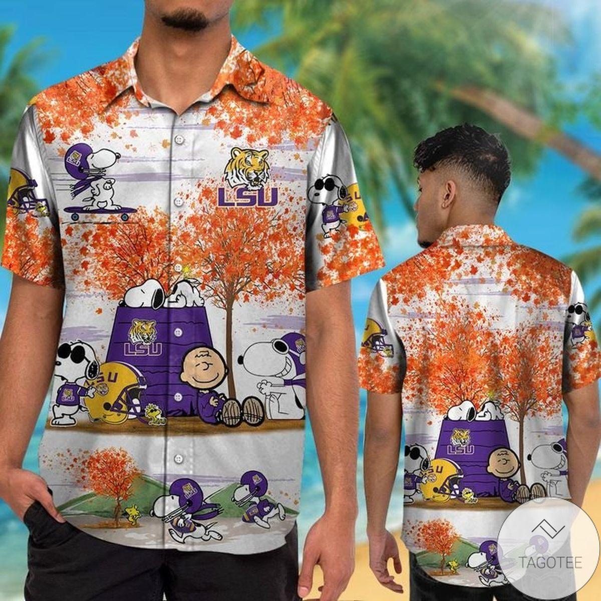 LSU Tigers Snoopy Autumn Hawaiian Shirt