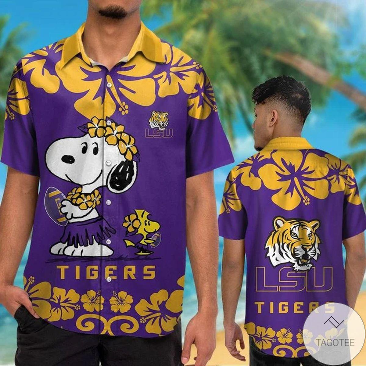 LSU Tigers & Snoopy Hawaiian Shirt