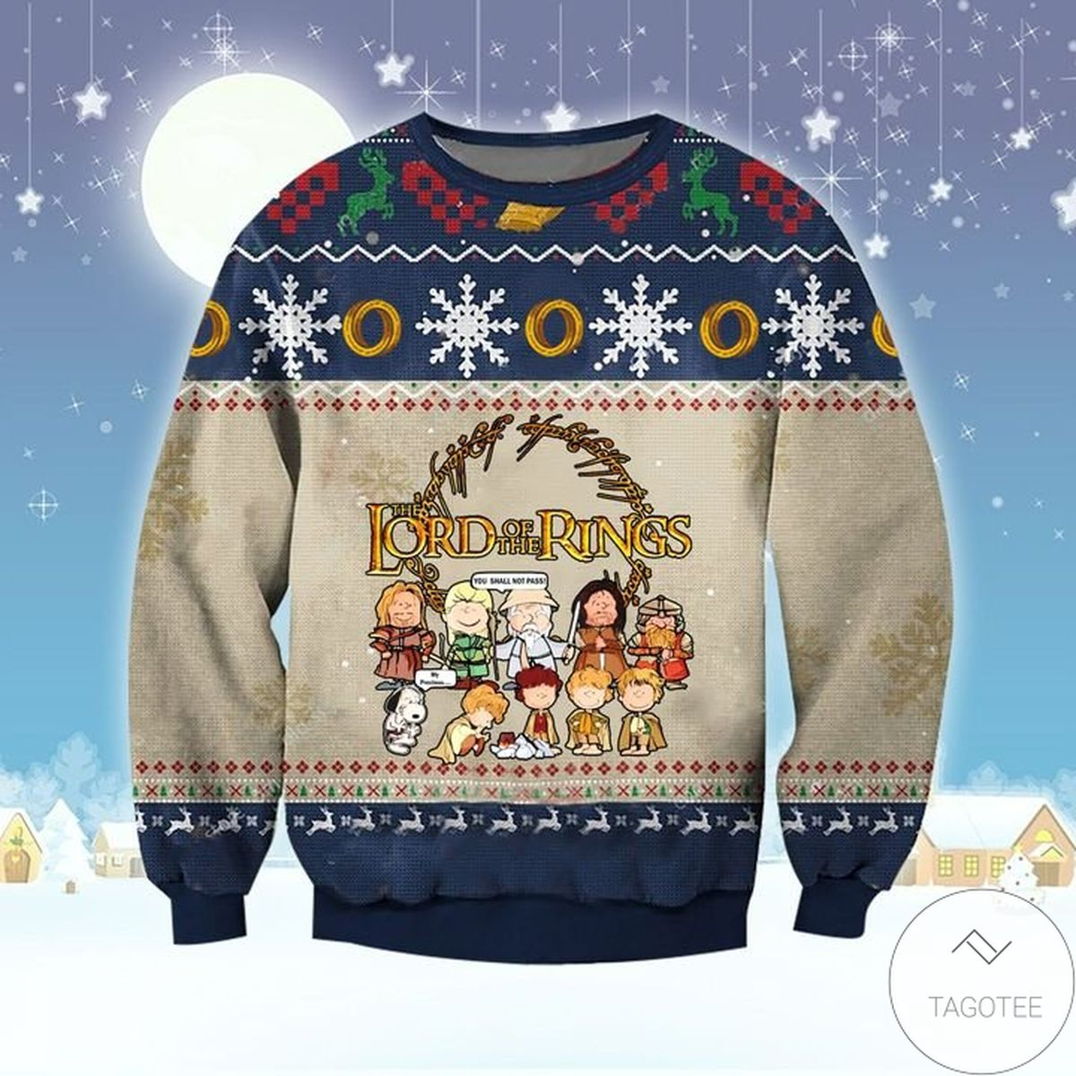 Lord Of The Rings Characters In Chibi Ugly Christmas Sweater