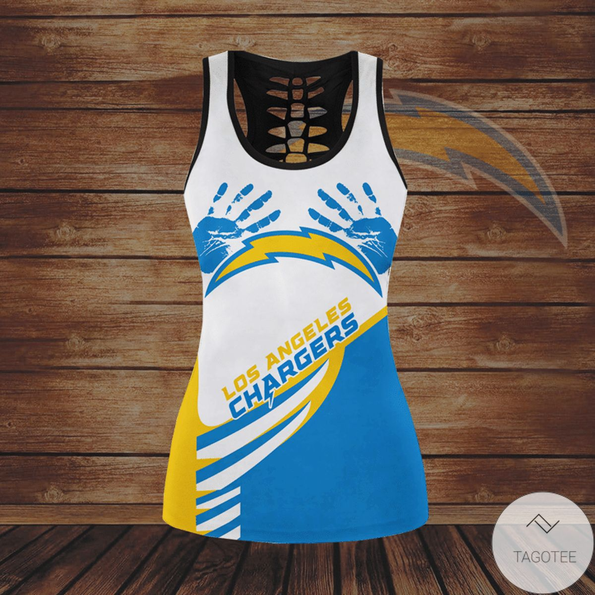 Present Los Angeles Chargers Hallow Tank Top And Leggings