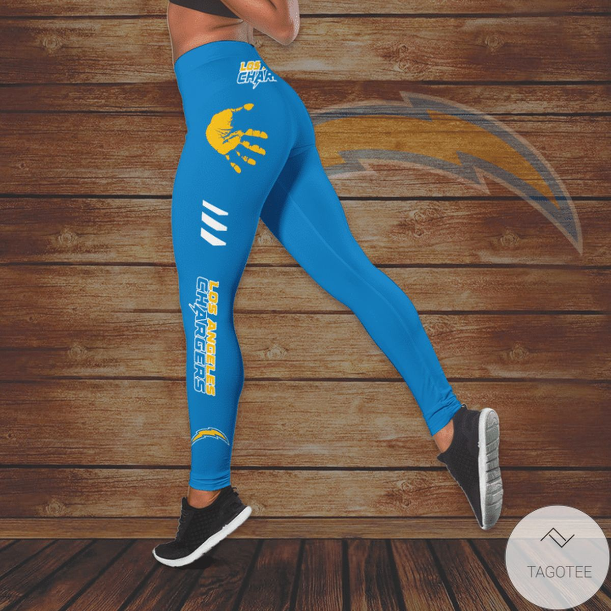 Top Los Angeles Chargers Hallow Tank Top And Leggings