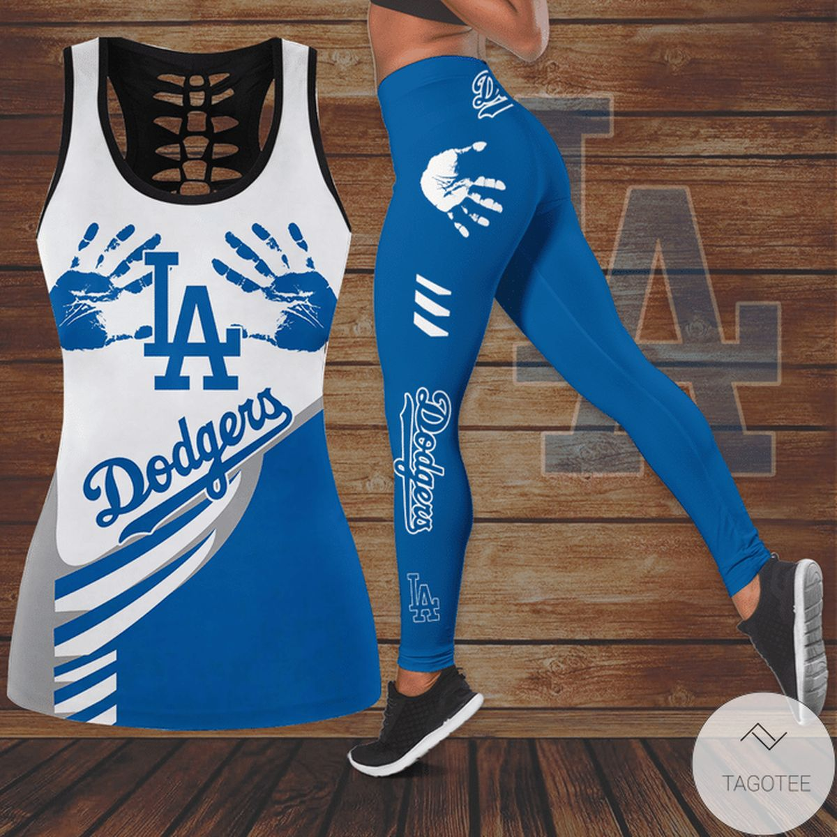 Los Angeles Dodgers Hallow Tank Top And Leggings