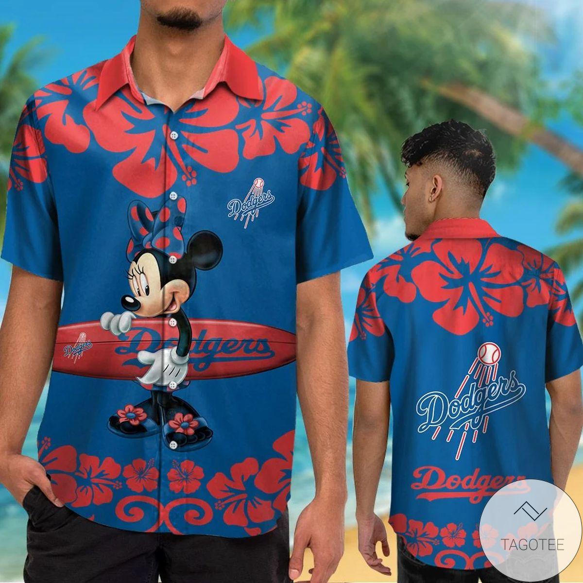 Los Angeles Dodgers Minnie Mouse Hawaiian Shirt