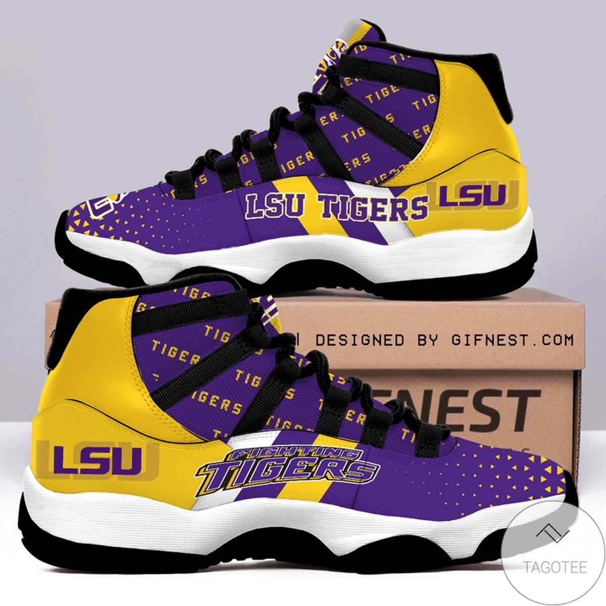 Lsu Tigers Air Jordan 11 Shoes