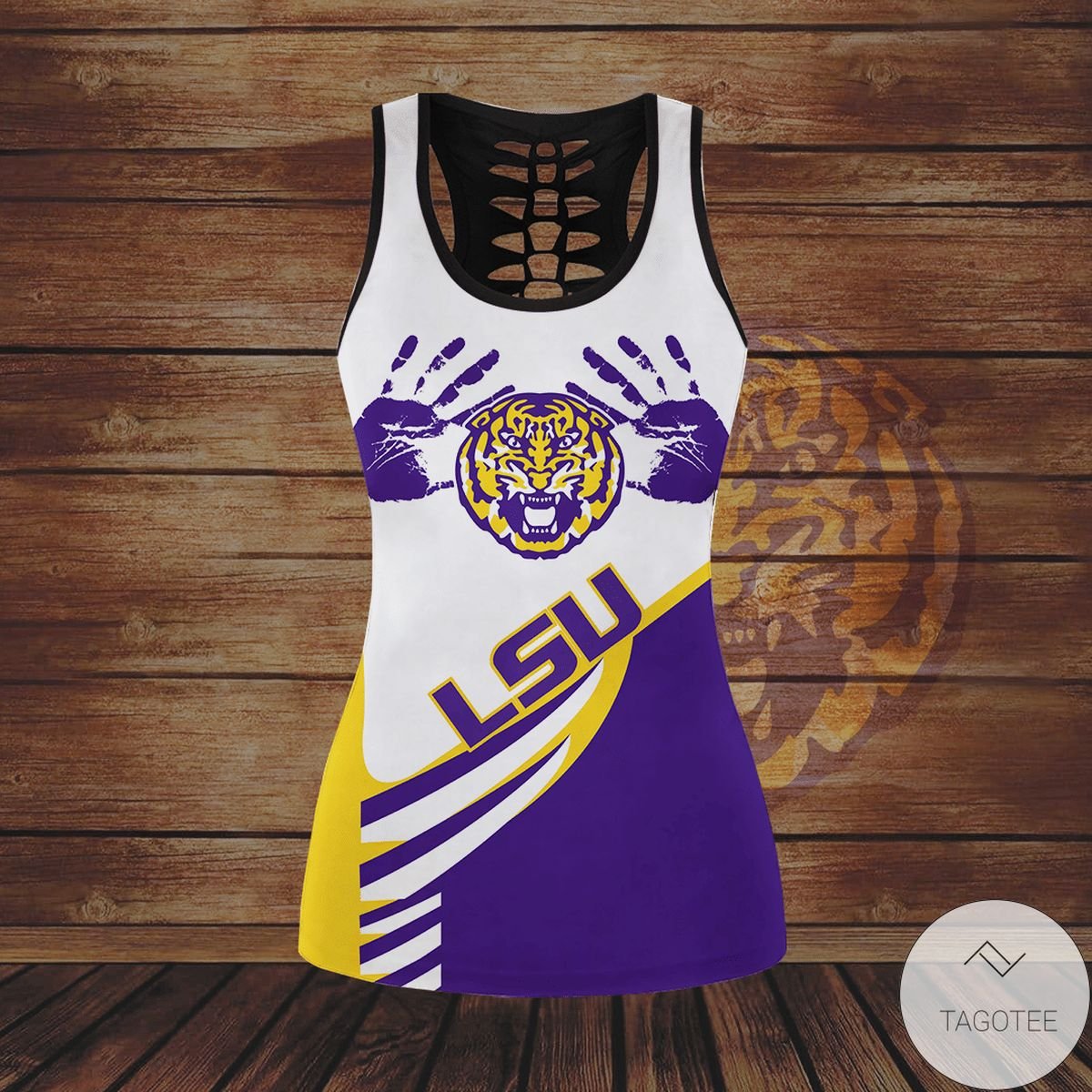 Hot Deal Lsu Tigers Hollow Tank Top And Leggings