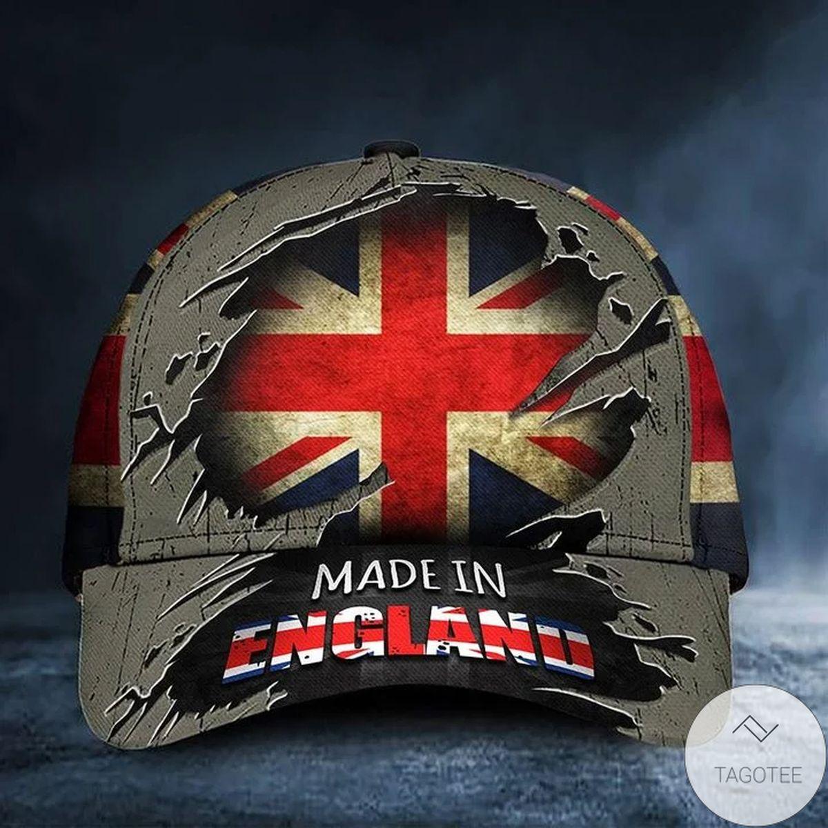 Made In England Uk Flag Hat Vintage Patriotic Honoring British United Kingdom Men And Women