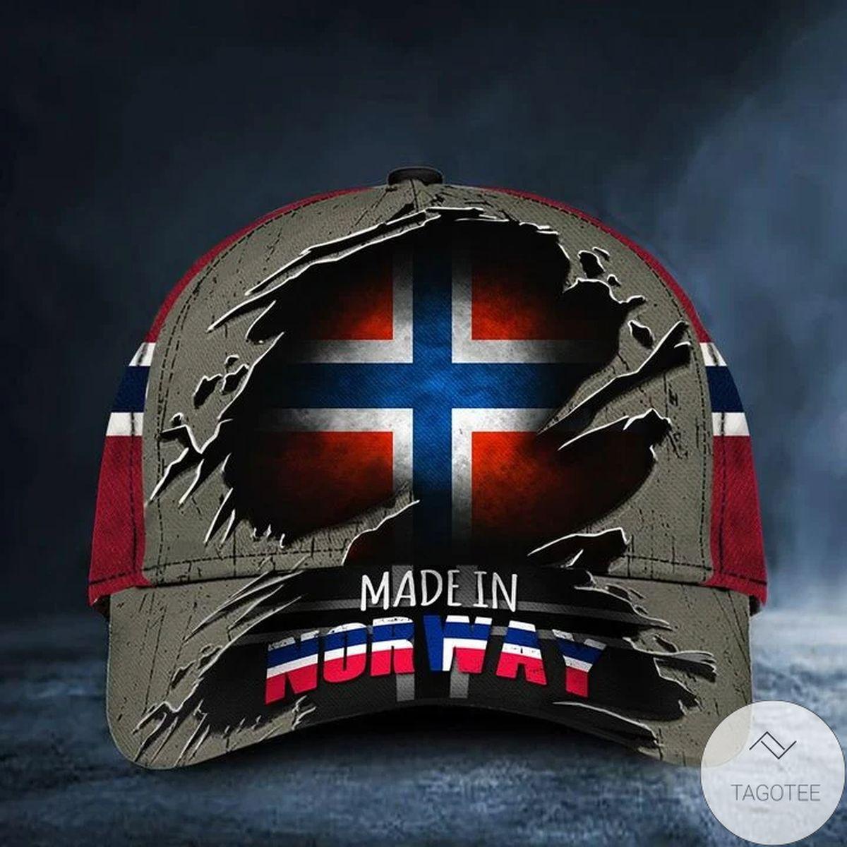 Made In Norway Cap Old Retro Norway Flag Cap Proud Of Norwegian Merchandise Gift